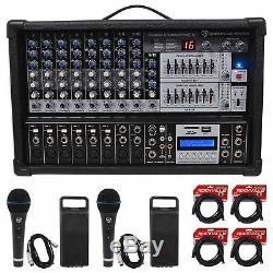 Rockville Rpm109 4800w 12 Ch. Amplificateur Alimenté Mixing Pro, 7 Band Eq, Fx, Usb