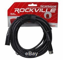 Rockville Rpm85 2400w Alimenté En 8 Canaux Amplificateur De Mixage Professionnel Usb, Égaliseur 5 Bandes, Effets