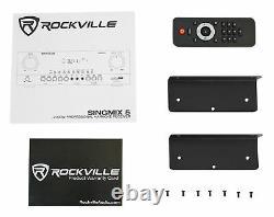 Rockville Singmix 5 2000w Professional Dj Amplificateur Avec Bluetooth/echo