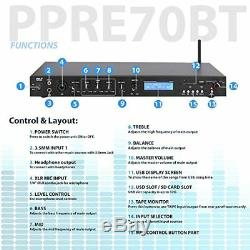 Son Rack Autour Pyle Pro Mont Studio Préamplificateur Récepteur Audio Système Avec