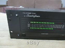 Soundcraftsmen Pro Puissance Quatre Mosfet Amplificateur De Puissance 205 Wpc Works Grand