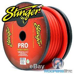 Stinger Spw10tr-50 Pro Calibre 1/0 Ga Awg Rouge Cordon De Terre Pour Alimentation De 50 Pieds