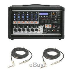 Table De Mixage Peavey Pvi 6500 Pro Audio 400w Alimentée Par 6 Canaux (2)