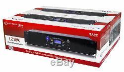 Technique Pro Lz10k Amplificateur Professionnel 10 000 W À 2 Canaux Avec Écran LCD + Serrure À Clé