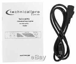Technique Pro Px3000 Professional 2u 2-ch. 3000w Puissance Dj Amplificateur + Casque