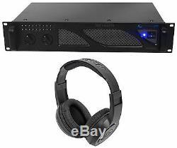 Technique Pro Px3000 Professional 2u 2-ch. Amplificateur Dj 3000w + Écouteurs