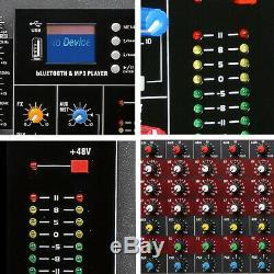 Us 16 Canaux Alimentation Alimenté Professional Mixer Mixage Amplificateur Amp 4000 Watts