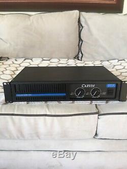 Vintage 1000 DCM Carvin Deux Canaux D'alimentation Professionnelle Amp / Amplificateur