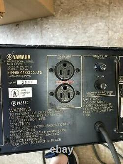Yamaha P2201 Amplifieur De Puissance Sonore Naturel Professionnel 240watts Stéréo
